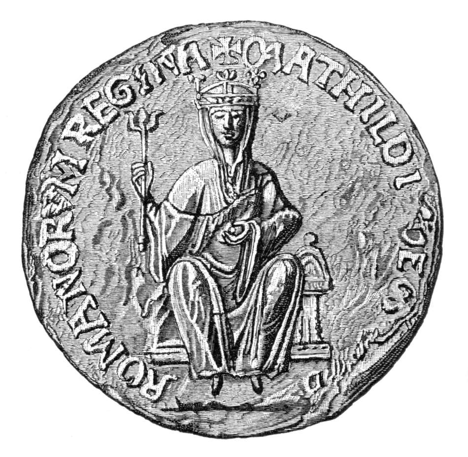 Drawing of The Great Seal of the Empress Matilda