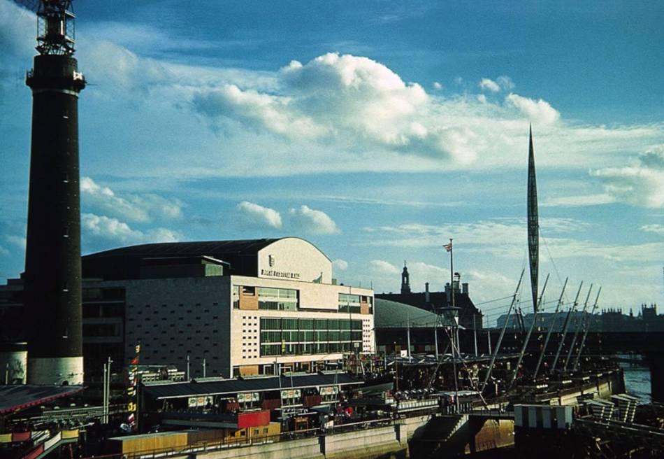 The Royal Festival Hall, Skylon and Shot Tower.