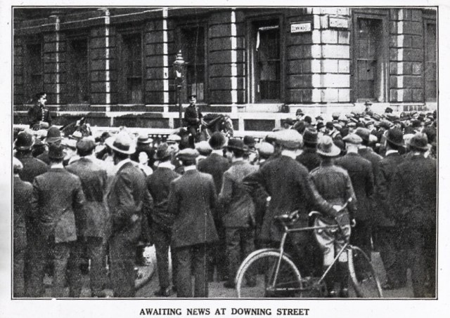 Crowd outside Downing Street