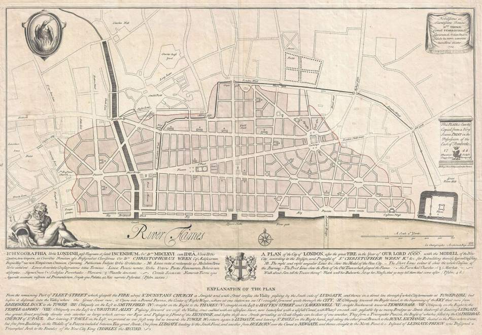 Sir Christopher Wren's map of the new London.