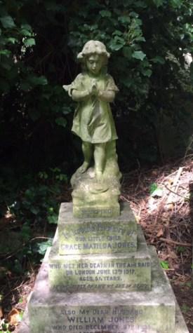 Grace Jones grave after restoration © Stan Kaye.