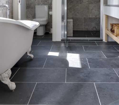 black slate riven tiles
