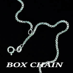 NeckBoxChain.16,18,20,22,24in, 1.5mm,2.0mm,2.5mm, 3.0mm SterlingSilverLabeled