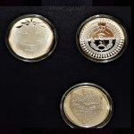 Indian Tribal Nations Three Coin Display Close-up Sterling Silver Reverse.