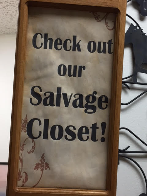 Check Out Our Expanded Salvage Closet!