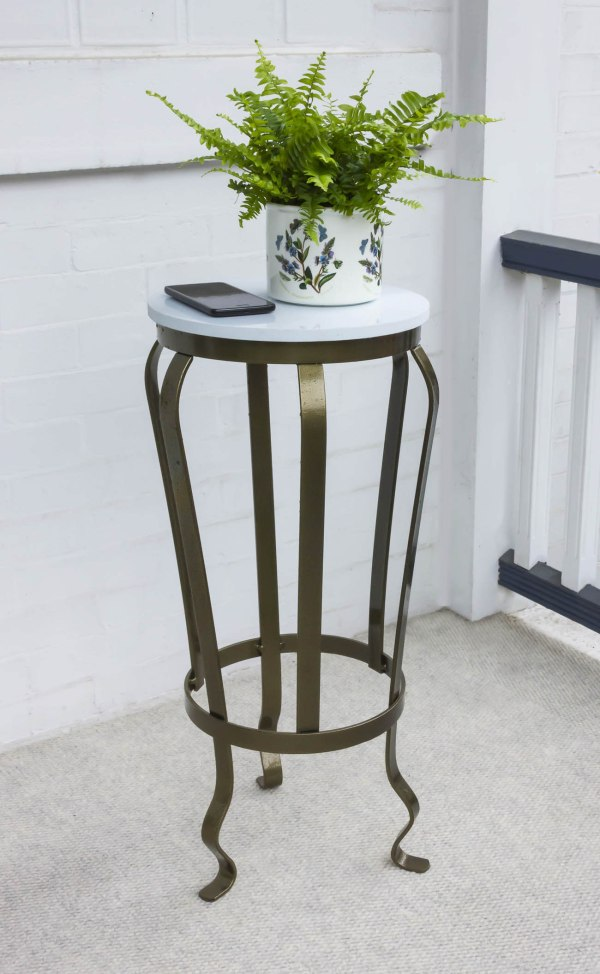 urn table iron plant stand