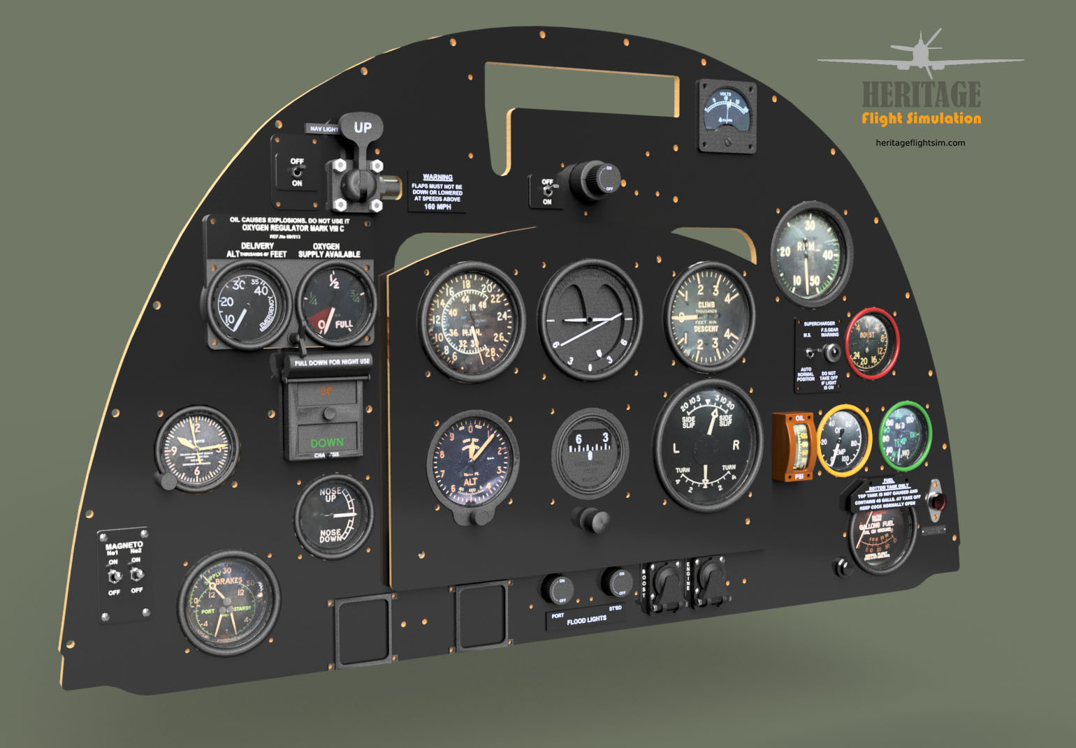 Showing off the Six Pack – Heritage Flight Simulation
