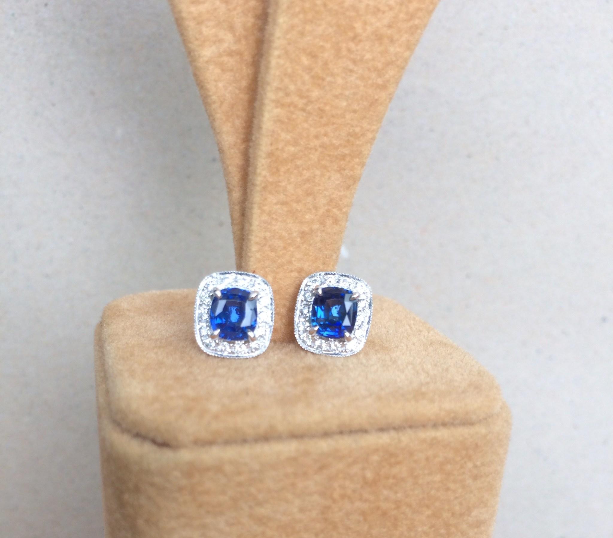 rare unheat sapphire earrings singapore