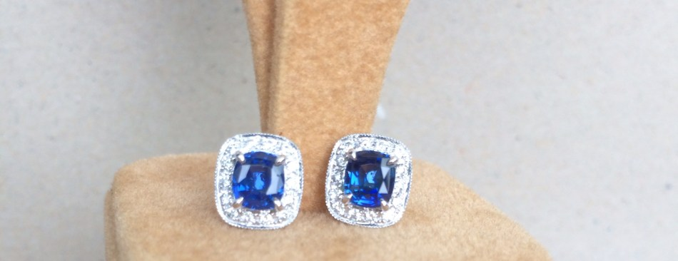 rare unheat sapphire earrings singapore