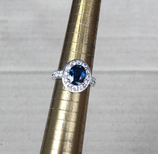 Vintage Style Sapphire Engagement Rings