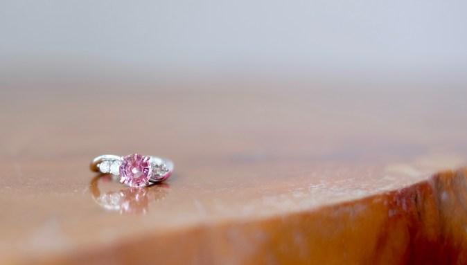 Unheat Pink Sapphire Proposal Ring