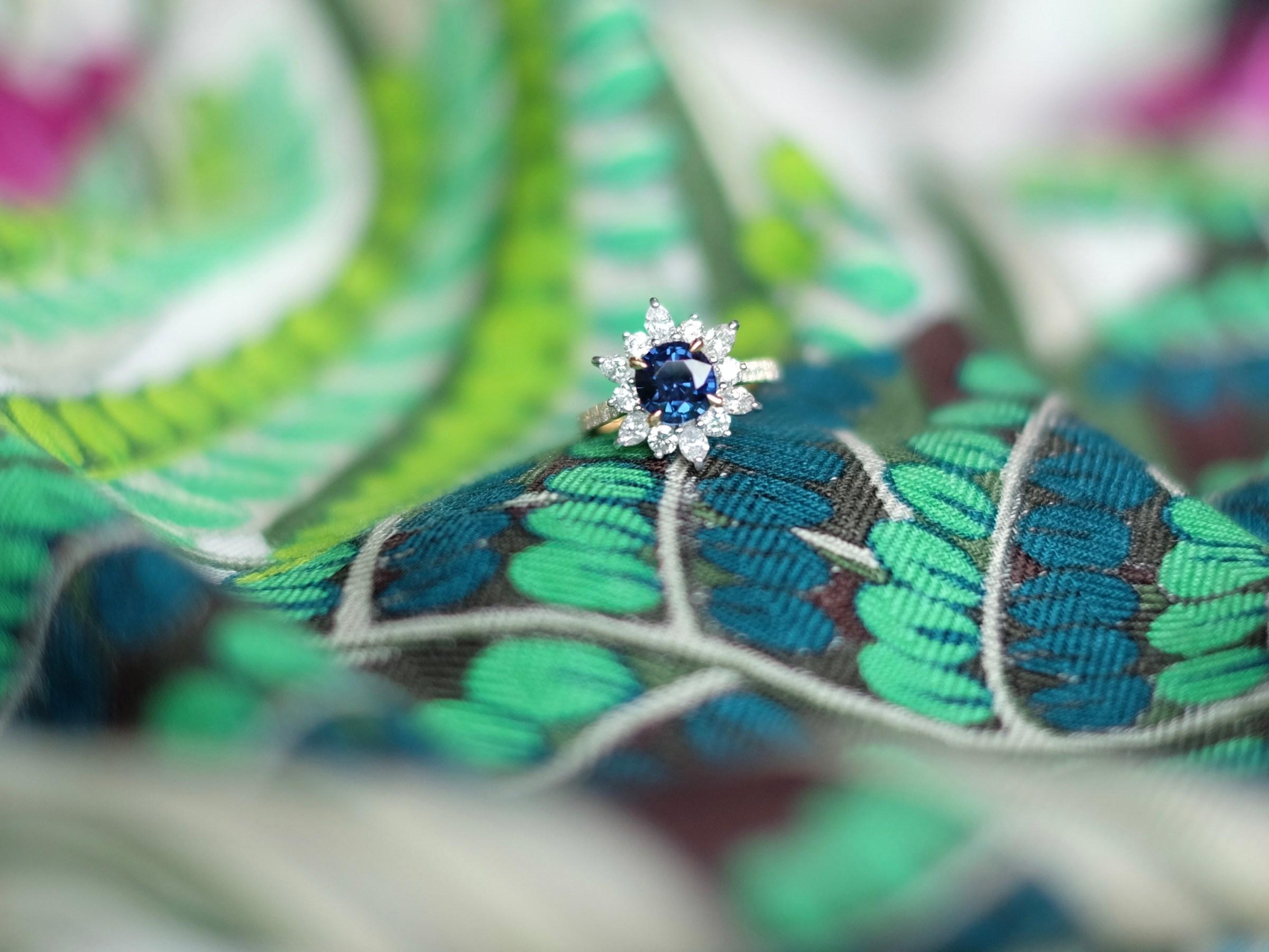 Colour Change Sapphire Proposal Ring