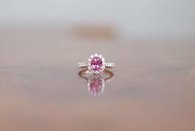 Pink Spinel Engagement Ring