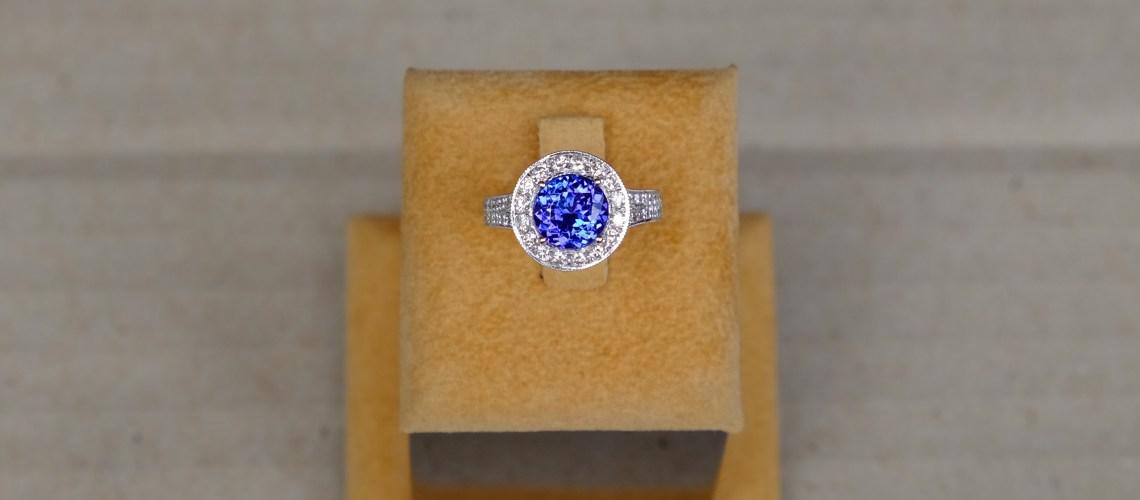 AAA Tanzanite Engagement Ring
