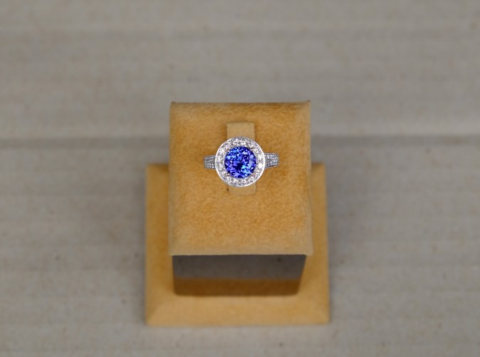 AAA Tanzanite Engagement Ring