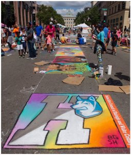 """""""ArtSpark is definitely my favorite event we do each year, it's so interactive and the people there are so fun. This was my first year getting a piece sponsored so that was a huge honor. If you haven't been before definitely check it out!"""" -Blake Glenn, senior"""