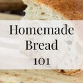 "Homemade Bread 101- Heritage Home Ec We are in the midst of a pandemic. It's crazy out there right now, and while I can't teach you how to make all of the ""panic buying"" essentials, bread is one of the easiest things you can make yourself in these uncertain times. 