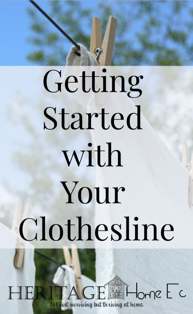 Getting Started with your Clothesline- Heritage Home Ec Using a clothesline can save you money on your electric bill. Are you a Clothesline Beginner? Here is how to get started with your clothesline today.   Home Economics   Homemaking   Laundry  
