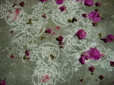 Chalk (chuna or rangoli) designs