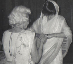 Placing of the bangles