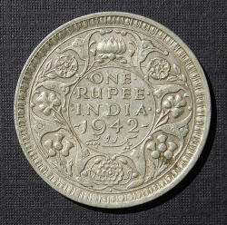 1942 Silver Indian Rupee. Modern Parsi / Parsee wedding / marriage