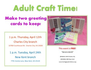Adult Craft Time @ Heritage Public Library | New Kent | Virginia | United States