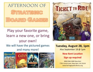 Stategic Board Games - NK @ Heritage Public Library | New Kent | Virginia | United States