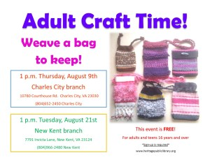 Weaving Workshop - NK @ Heritage Public Library | New Kent | Virginia | United States