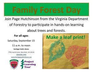 Family Forest Day @ Heritage Public Library | New Kent | Virginia | United States