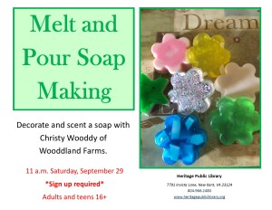 Melt and Pour Soap Making @ Heritage Public Library | New Kent | Virginia | United States