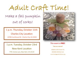 Adult Craft Time - NK @ Heritage Public Library | New Kent | Virginia | United States