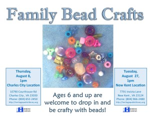 Family Bead Crafts - NK @ Heritage Public Library | New Kent | Virginia | United States