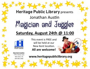 Magic Show @ Heritage Public Library | New Kent | Virginia | United States