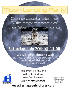 Moon Landing Party @ Heritage Public Library | New Kent | Virginia | United States