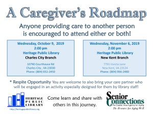A Caregiver's Roadmap @ Heritage Public LIbrary | Charles City | Virginia | United States