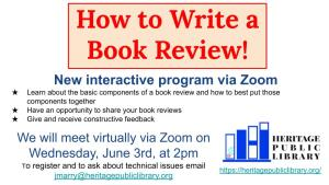 How to Write a Book Review. @ Zoom Conference