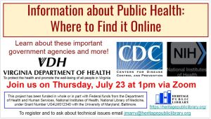 Information about Public Health:  Where to Find it Online