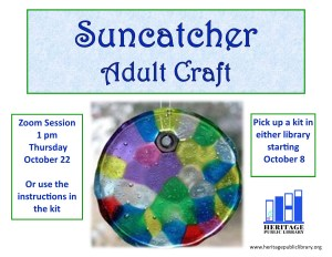 Suncatcher Adult Take & Make Craft @ Online