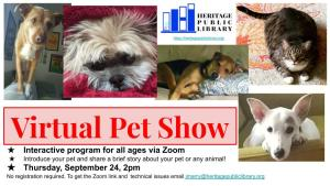 Virtual Pet Show @ Heritage Public Library