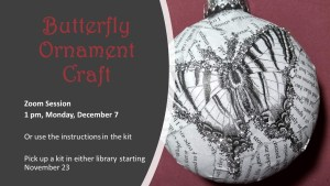 Take & Make Craft Butterfly Ornament