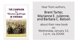 Author Talk - Campaign for Woman Suffrage in Virginia""