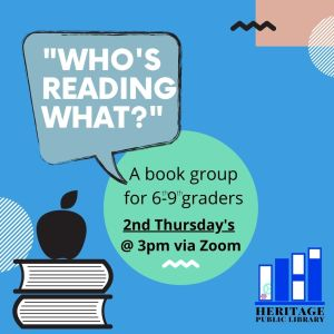 Who's Reading What? 6th-9th Grade Book Group