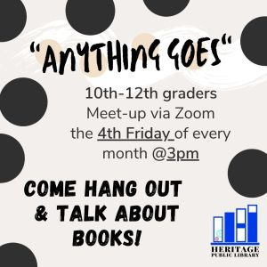 """Anything Goes"" Book Club - 10th-12th Grades"