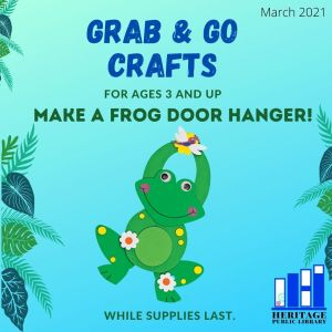 Grab & Go - Frog Door Hanger Pickup Begins 3 yrs and up