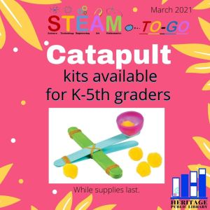 STEAM-to-go  Catapult Pickup Begins Grades K-5th