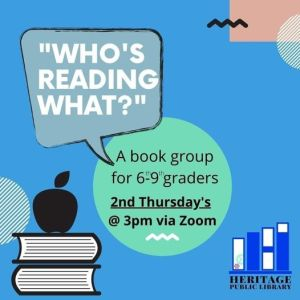 Who's Reading What? Book Group for 6th-9th Grades