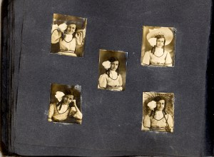 Unknown people in a photo album probably owned by Bess Dorothy Green, p.33.