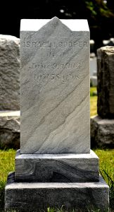 Israel I. COOPER- Headstone- English. From Find A Grave, posted with permission of photographer.