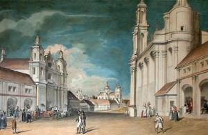 Painting by Józef Peszka, Viciebsk,_Rynak._Віцебск,_Рынак_(J._Pieška,_XIX).