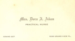 Dora J. Russell Aiken-Business Card